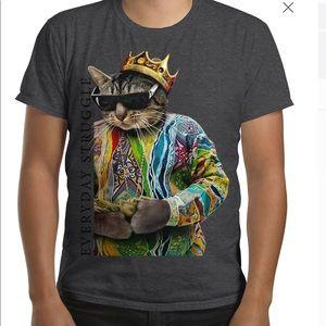 Biggie Smalls Cat T-shirt Size M